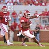 September 10 2016 OU vs ULM Football<br /> <br /> Oklahoma Sooners running back Joe Mixon (25)  in the first half of the game between the Sooners and University of Louisiana Monroe at Owen Field in Norman OK<br /> <br /> <br /> June Frantz Hunt/Transcript