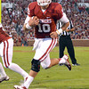 OU quarterback Blake Bell (10) crosses the goal line Saturday, scoring a touchdown on a run play during the Sooners' game against Kansas at Owen Field.<br /> Kyle Phillips/The Transcript