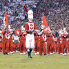 The Pride of Oklahoma Marching Band performs on the field before OU takes on Notre Dame Saturday at Owen Field.<br /> Kyle Phillips/The Transcript