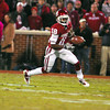 OU receiver Jalen Saunders (18) runs with the ball after he catches a pass Saturday during the Sooners' game against the Fighting Irish at Owen Field.<br /> Kyle Phillips/The Transcript