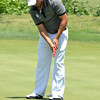 OU golfer  Abraham Ancer putts the ball Thursday afternoon during the NCAA Regional Golf Tournament at the  Jimmie Austin OU Golf Club.<br /> Kyle Phillips/The Transcript