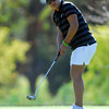 OU Golfer Chirapat Jao-Javanil watches her ball as she putts on the 18th hole Wednesday afternoon during the Susie Maxwell Berning Classic at the Jimmie Austin Golf Course.<br /> Kyle Phillips/The Transcript