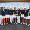 The OU Golf team poses for pictures with their trophy after winning the  Susie Maxwell Berning Classic Wednesday  at the Jimmie Austin Golf Course.<br /> Kyle Phillips/The Transcript
