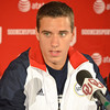 Olympic gymnist Jake Dalton talks about what it was like during the Olympic Trails Thursday afternoon at a press conference at the University of Oklahoma.<br /> Kyle Phillips/The Transcript