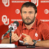 Men's Freestyle Wrestling Olympian Jared Frayer talks to the media about making it to the 2012 Olympics Thursday afternoon at a press conference at the University of Oklahoma.<br /> Kyle Phillips/The Transcript