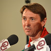 OU Men's Gymnastics Head Coach Mark Williams talks about how he feels to heve two of his athletes competing in the 2012 Olympics Thursday afternoon at a press conference at the University of Oklahoma.<br /> Kyle Phillips/The Transcript