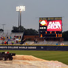 Rain has delayed the start of the Oklahoma versus Alabama game , Wednesday, June 6, 2012, in the third game of the Womens College World Series championship at ASA Hall of Fame Stadium in Oklahoma City. Jerry Laizure / The Transcript