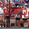Sooners fans show their spirit Thursday, May 31, 2012, at the Womens College World Series. Oklahoma defeated South Florida, 5-1, in the opening round and will face California at 6 p.m. today. Jerry Laizure/The Transcript