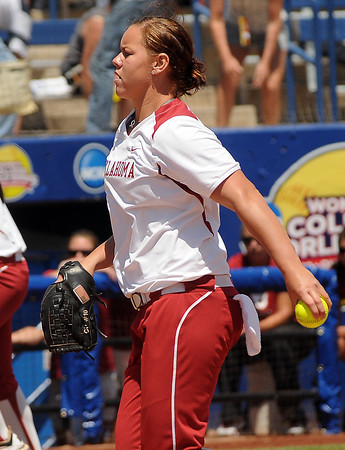 Oklahoma starter Keilani Ricketts throws to a South Florida batter, Thursday, May 31, 2012, in an opening round game of the Womens College World Series at ASA Hall of Fame Stadium in Oklahoma City. Jerry Laizure/The Transcript