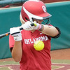 Oklahoma's Erica Sampson gets hit by an Arizona pitch Saturday, May 26, 2012, in the NCAA super regional being played at Marita Hynes Field in Norman. Jerry Laizure/The Transcript