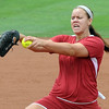 Oklahoma pitcher Keilani Ricketts struck out 13 Arizona batters Saturday, May 26, 2012, in the NCAA super regional being played at Marita Hynes Field in Norman. Jerry Laizure/The Transcript