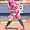Valarie Arioto (20) clips the ball during her turn at bat during Team USA's game against the Netherlands Saturday afternoon at the ASA Hall of Fame Stadium.
