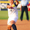 Jackie Traina (11) pitches to a Team Puerto Rico batter Thursday evening during their game at the ASA Hall of Fame Stadium. Team USA won 8-0.<br /> Kyle Phillips/The Transcript