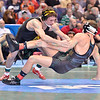 In the 125 pound division, where ALAN WATERS of Missouri gets taken down by THOMAS GILMAN of Iowa but takes 3rd place at the NCAA division 1 wrestling championships held at Scottrade Center in St. Louis MO.