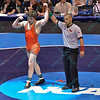ALEX DIERENGER of Oklahoma State gets his hand raised as he was crowned national champion in the 165 pound division at the NCAA division 1 wrestling championships held at Scottrade Center in St. Louis MO.
