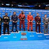 The 197 pound all-americans with KYVEN GADSON of Iowa State in the number 1 spot at the NCAA division 1 wrestling championships held at Scottrade Center in St. Louis MO.