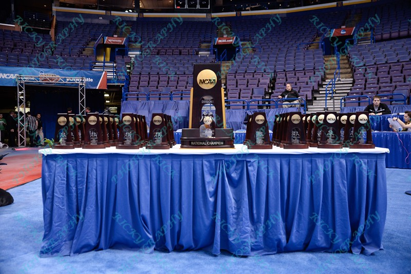 The National Championship trophy was on display at the NCAA division 1 wrestling championships held at Scottrade Center in St. Louis MO.