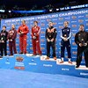 The 141 pound all-americans with LOGAN STIEBER as the National Champion at the NCAA division 1 wrestling championships held at Scottrade Center in St. Louis MO.