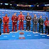 The 184 pound All-Americans with GABRIEL DEAN of Cornell standing in the number 1 spot at the NCAA division 1 wrestling championships held at Scottrade Center in St. Louis MO.