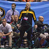 Coach JohnMark Bentley of Appalachian State during the pigtail and first round competition of the NCAA division 1 wrestling championships held at Scottrade Center in St. Louis MO.