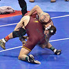 CHRISTOPHER DARDANES of Minnesota takes down CODY BREWER of Oklahoma in their semi-final match during the NCAA division 1 wrestling championships held at Scottrade Center in St. Louis MO.