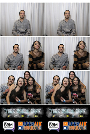 UCLA Kick Off Photo Booth Strips