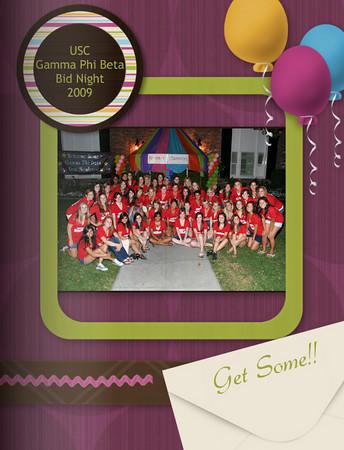 USC Gamma Phi Bid Night PhotoBook