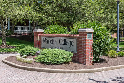 Marietta College Sign - Christy Mall at Putnam Street