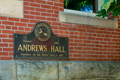 Andrews Hall Sign