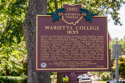 Marietta College Historical Marker - Putnam Street at Christy Mall