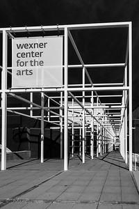 Wexner Center - SE side [B&W]