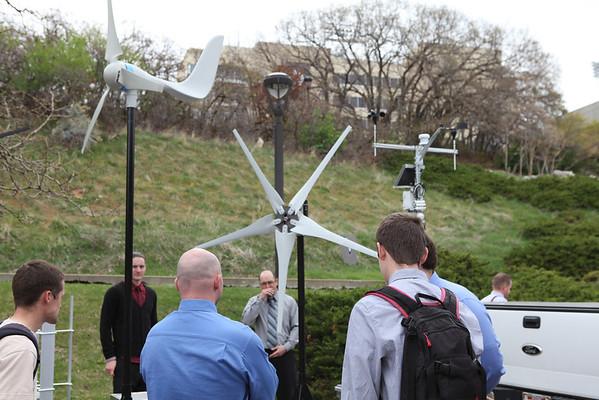 Senior Team Turbine Project, Weber State University Main Campus, Allison Hess photographer, 04/18/14