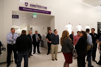 Parsons Construction Management Technology donor wall ribbon cutting