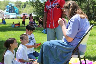 Kathryn Mackay, co-director Arts in the Parks,Arts in the Parks, 6/3/14, Lorin Farr Park, photographer Matt Gerrish