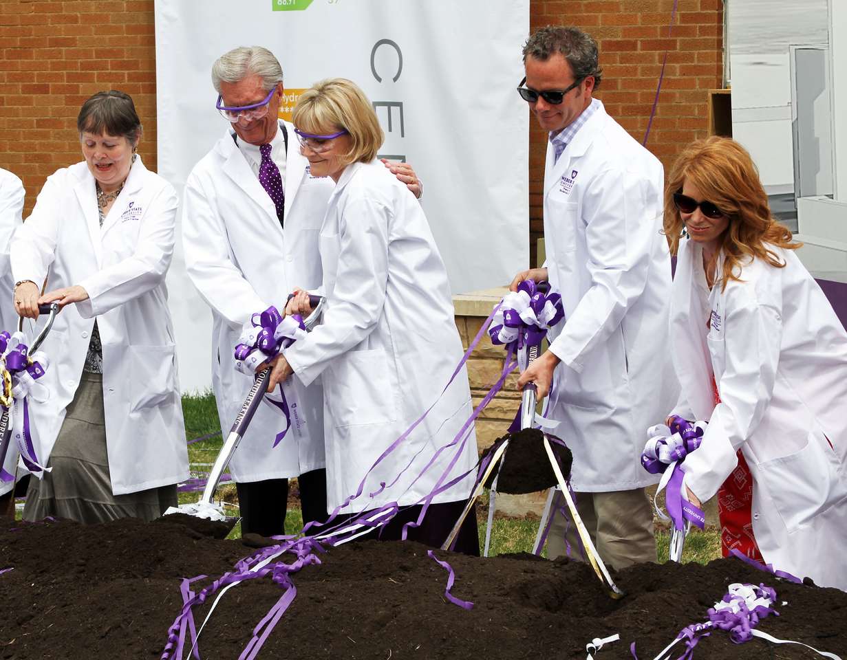 Members of the Hall Family: Tracy Hall Science ground breaking