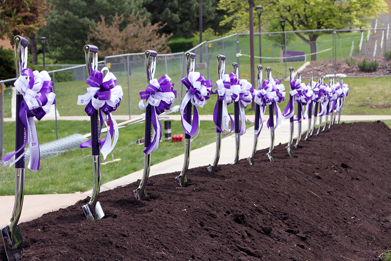 Ceremony Shovels: Tracy Hall Science ground breaking