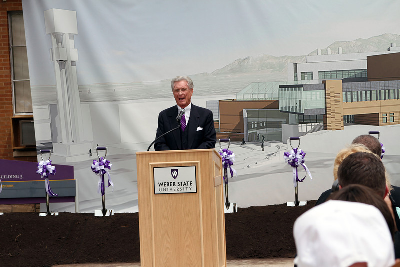 Alan Hall: Tracy Hall Science ground breaking