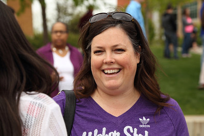 Hillary Wallace, Tracy Hall Science Center groundbreaking, Weber State University main campus, May 2014