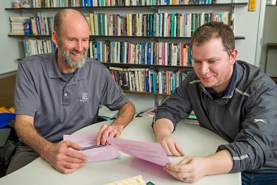 Richard Greene with student