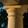 Detail of column at dusk on the lawn of the University of Virginia