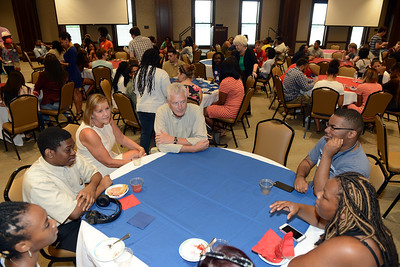 Milton and Denice Johnson host ice cream social