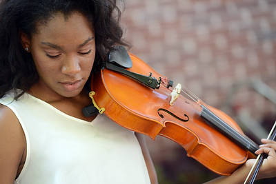 Chamber Orchestra performs outside