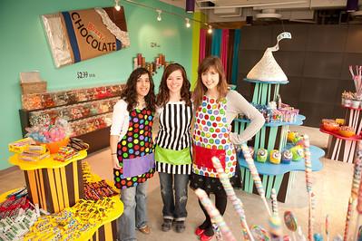 left to right - Areej Rabie (freshman), Mandy Strader (freshman), Julia Cecere (sophomore)
