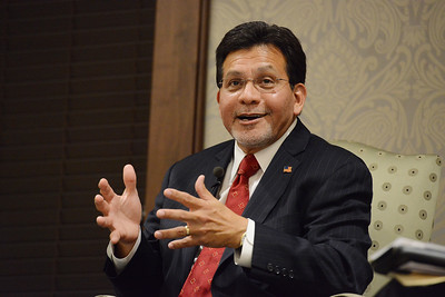 "Alberto R. Gonzales speaks at his book event for ""True Faith and Allegiance"""