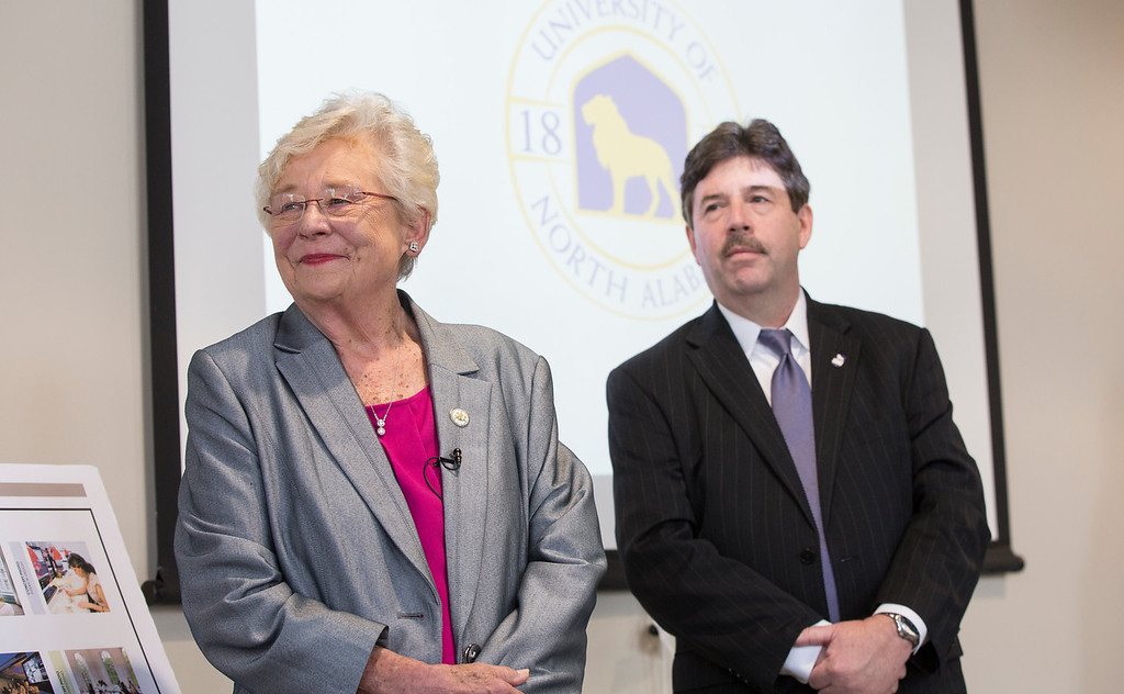 Governor Kay Ivey tours the Connie D. McKinney Human Sciences Hospitality and Design.