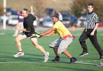 Faculty and staff touch football.