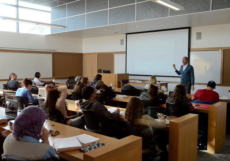 Mike McMahon - The Record, Classroom at Hudson Valley Community College's $47.4 million, 100,000-square-foot Science Center., Thursday 10/10/2013.