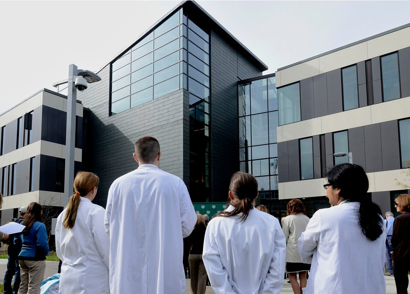 Mike McMahon - The Record, Hudson Valley Community College will host the official opening of its $47.4 million, 100,000-square-foot Science Center., Thursday 10/10/2013.