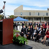 Mike McMahon - The Record, Hudson Valley Community College President Andrew J. Matonak speaks at  the official opening of its $47.4 million, 100,000-square-foot Science Center., Thursday 10/10/2013.