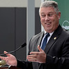 Mike McMahon - The Record, Assemblyman John McDonald speaks at Hudson Valley Community College's official opening of its $47.4 million, 100,000-square-foot Science Center., Thursday 10/10/2013.